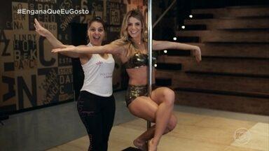 Conheça o pole dance com Carol Miarelli - A professora Flávia dá aula para a dentista