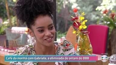 Gabriela revê sua trajetória no BBB19 - Ex-BBB diz que se sentiu representada por Rízia e que sua participação no programa a ajudou a elevar sua autoestima