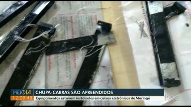 Polícia Militar apreende 'chupa-cabras' em caixas eletrônicos de Maringá - Clientes suspeitaram e chamaram a polícia.