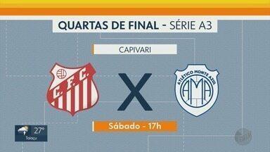 Confira a rodada das quartas de final da Série A3 - Jogos acontecerão neste sábado (13)