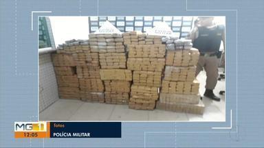 Polícia Militar apreende 700 quilos de maconha em Caratinga - A apreensão foi feita de madrugada e a droga estava dividida em 517 barras.