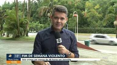 Seis crimes são registrados em menos de 48 horas em Joinville - Seis crimes são registrados em menos de 48 horas em Joinville