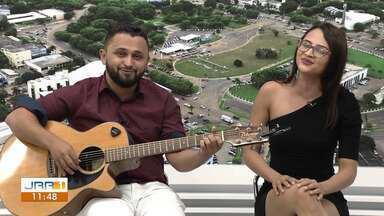 Thalita e Kauan soltam a voz no Jornal de Roraima - 1ª Edição - Dupla conta um pouco sobre a história na música, as influências e do sucesso no estado.