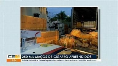 225 mil maços de cigarros apreendidos - Outras informações no g1.com.br/ce