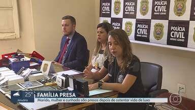 Família é presa por tráfico de drogas na Grande BH - Segundo Polícia Civil, suspeitos viviam em condomínio fechado de luxo em Lagoa Santa.