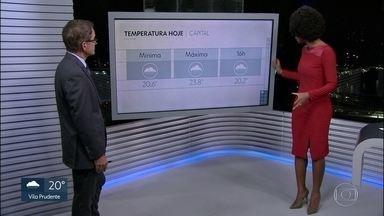 Segunda-feira chuvosa na Capital - Amanhã a previsão é de mais chuva na cidade