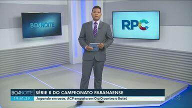 Estreia do ACP na série B do Paranaense ficou no zero a zero - Próximo jogo é na quarta-feira no Waldomiro Wagner.