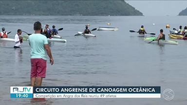 Competição de canoagem oceânica reúne diversos atletas em Angra dos Reis - 49 competidores disputaram nas categorias.