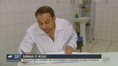 Pessoas faltam das consultas sem avisar e prejudicam atendimento no SUS em Araraquara - Total de faltas no 1º bimestre deste ano passou dos 18% dos agendamentos.