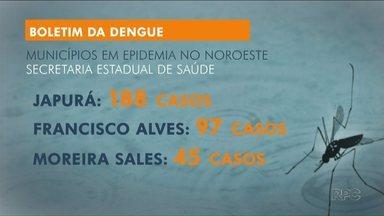 Japurá é cidade com maior incidência de dengue no Estado - Secretaria Estadual da Saúde divulga novo boletim com dados atualizados no Paraná.