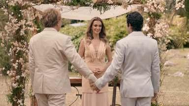 Fim? - Depois da crise, Aníbal e Edgar decidem oficializar a união. Já Fernanda vê sua relação com Pedro ameaçada por uma notícia inesperada que pode mudar o rumo da história deles...