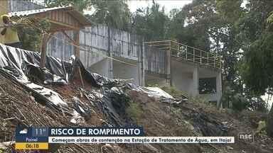 Obras de contenção começam na Estação de Tratamento de Água em Itajaí - Obras de contenção começam na Estação de Tratamento de Água em Itajaí