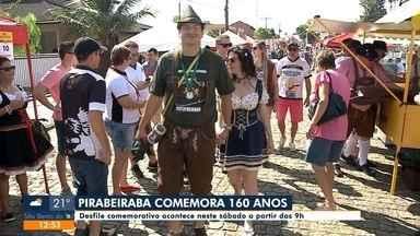 Desfile vai celebrar 160 anos de Pirabeiraba - Desfile vai celebrar 160 anos de Pirabeiraba
