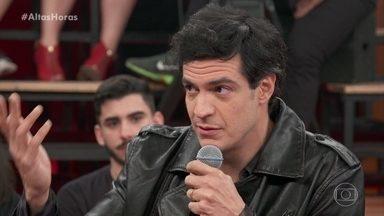 Mateus Solano fala de sua admiração por Tony Ramos - Produção do programa prepara um clipe com os atores contracenando
