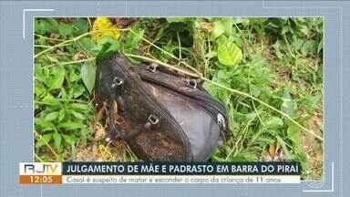 Suspeitos de matar e esconder corpo de menina em Barra do Piraí vai a julgamento - Audiência será realizada no fórum do município. Episódio veio à tona em janeiro deste ano, mas a criança estava desaparecida desde julho de 2018.