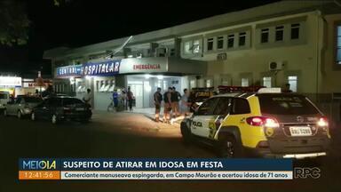 Idosa é morta em festa de família - Comerciante manuseava espingarda quando um tiro acertou a idosa de 71 anos.