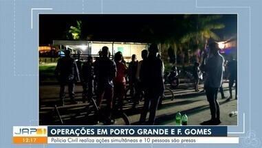 Polícia civil faz operações nos municípios de Porto Grande e Ferreira Gomes - Várias pessoas foram levadas à delegacia e ao conselho tutelar.