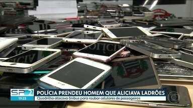 SP2 - Edição de segunda-feira, 15/04/2019 - Justiça determina bloqueio de bens do ex-governador Geraldo Alckmin e de mais seis réus. Polícia prende homem que recrutava dependentes químicos para roubar celulares. Cão policial levou à apreensão de mais de 400 kg de drogas em Paraisópolis.