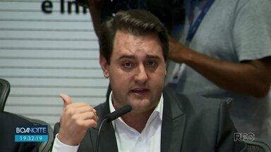 Ratinho Júnior faz balanço sobre os 100 dias de governo - Governador disse que mais de mil quilômetros serão pedagiados no Paraná.