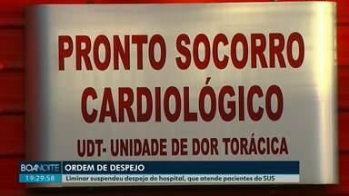 Liminar suspende despejo do hospital Salete que atende pacientes do SUS - A ordem de despejo aconteceu por conta de dívidas no aluguel do prédio.