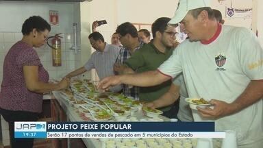 Degustação de filé de peixe de água salgada marcou a abertura do programa 'Peixe Popular' - Projeto tem como objetivo atender a grande demanda de venda de pescado durante a Semana Santa.