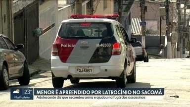 Polícia apreende dois menores envolvidos em morte no Sacomã - Um adolescente ainda está foragido