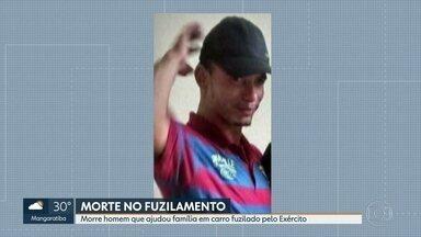 Morre homem que ajudou família em carro fuzilado - Luciano, 28 anos, morreu na madrugada desta quinta (18). A esposa dele está grávida de 5 meses. O catador de latinhas ajudou a família do músico que teve o carro fuzilado por militares.