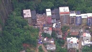 Novas testemunhas prestam depoimento sobre prédios que caíram na Muzema - A Polícia do Rio ainda tenta localizar o principal suspeito de ter construído os prédios que desabaram na Muzema há uma semana.