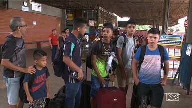Maranhenses embarcam para período de testes no Vasco - Criança e adolescentes foram selecionados e vão passar por período de experiência no clube do Rio de Janeiro.