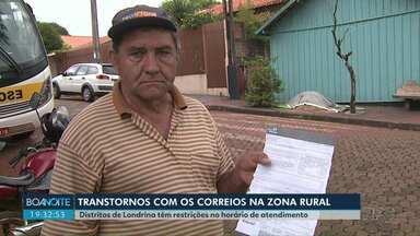 Distritos de Londrina sofrem com problemas em serviço de Correios - As cartas devem ser retiradas pelos moradores em um único local