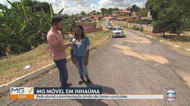 MG Móvel confere obras reivindicadas pelos moradores de Inhaúma - Rua Gonçalves Dias precisava de rede pluvial e pavimentação. Obras foram feitas pela prefeitura.