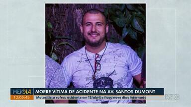 Corpo de motociclista que sofreu acidente na Av. Santos Dumont é enterrado em Londrina - Ele ficou internado por nove dias. A polícia abriu inquérito para apurar as circunstâncias do acidente.