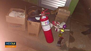 Bandidos arrombam creche pela 3ª vez em Paiçandu - Segundo a direção, foram levados produtos de limpeza.