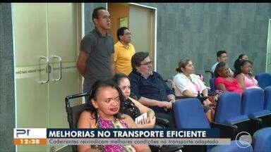Cadeirantes pedem melhorias no transporte público adaptado - Cadeirantes pedem melhorias no transporte público adaptado