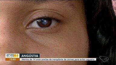 Jovem do Norte do ES espera por transplante de córnea - Jovem do Norte do ES espera por transplante de córnea