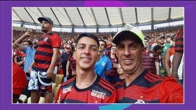 """""""Você no GE"""": Pai e filho comemoram título do Flamengo direto do Maracanã - Veja os registros dos uberlandenses no Rio de Janeiro"""