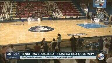 1ª fase da Liga Ouro: Rio Claro decide com o Pato Branco vaga no play-off - Equipes estão empatadas na tabela.
