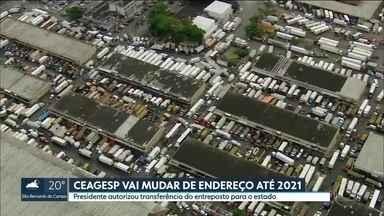 Jair Bolsonaro autoriza a transferência do entreposto da Ceagesp para o estado - A decisão veio em um encontro entre o presidente Jair Bolsonaro e o governador de São Paulo João Dória, em Brasília, nesta terça-feira (23).