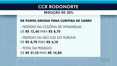 Redução na tarifa de pedágios chega aos 30% na região de Ponta Grossa - O preço deve ser atualizado neste sábado (27).