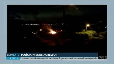 Preso homem que incendiou casa da ex-mulher em Ponta Grossa - Ele ainda agrediu a vítima.