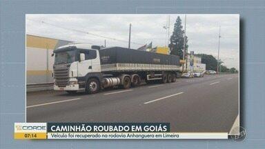 Homem é preso em Limeira por suspeita de roubo de caminhão - Ele conduzia um veículo que tinha sido roubado em Goiás.