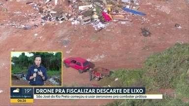Drone fiscaliza descarte de lixo em São José do Rio Preto - Cidade começou a usar aeronaves para combater o problema com lixos e entulhos.
