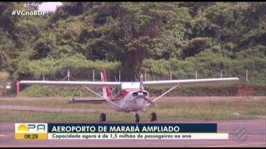 Aeroporto de Marabá é ampliado e reformado - O prédio tem capacidade de circulação de 1 milhão de pessoas.