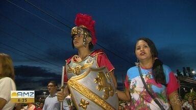 Devotos celebram São Jorge com procissão e missas em Manaus - Devoção ao Santo reúne fieis de diversas religiões em tradicional procissão.