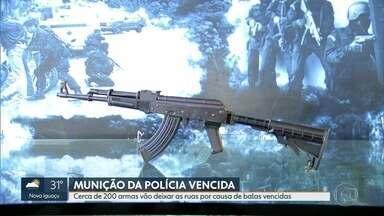 Polícia Civil perde cerca de 200 armas por causa de munições vencidas - Segundo o boletim interno da Polícia Civil, a perda desse material se deu por conta de problemas administrativos, mas após apuração, foi verificado que as balas de calibre 762 estão vencidas.