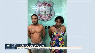 A polícia prendeu um casal de traficantes no Itapoã - Eles foram presos em flagrante. A polícia apreendeu drogas e dinheiro no local.