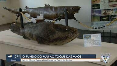 Lar das Moças Cegas promove visita ao Museu de Pesca de Santos - Visita foi feita nesta quarta-feira (24) e foi realizada com o intuito de promover uma experiência diferente.