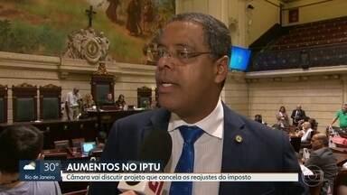 Audiência pública na Câmara discute projeto que cancela reajuste do IPTU - Uma audiência pública na Câmara vai discutir nesta quinta (25) um projeto de lei que aumenta as faixas de isenção do IPTU e cancela reajustes.