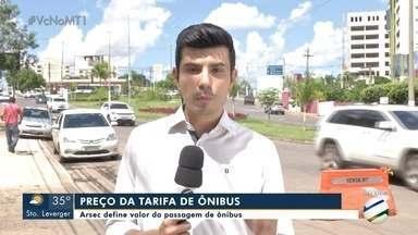 Arsec define novo valor da passagem de ônibus em Cuiabá - Arsec define novo valor da passagem de ônibus em Cuiabá.