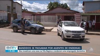 Bandidos se passam por agentes de endemias e assaltam casa na Vila Regina - Uma mulher que mora no local foi rendida pelos assaltantes, que foram presos.